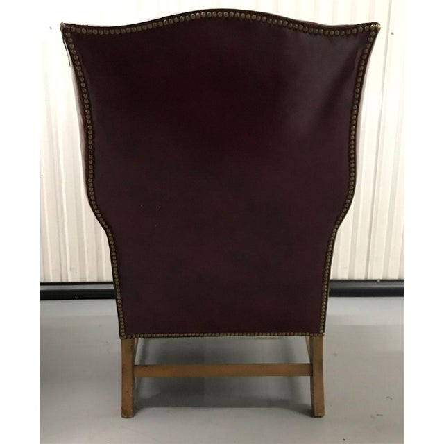 Vintage Leather Wingback Chairs — a Pair For Sale - Image 9 of 13