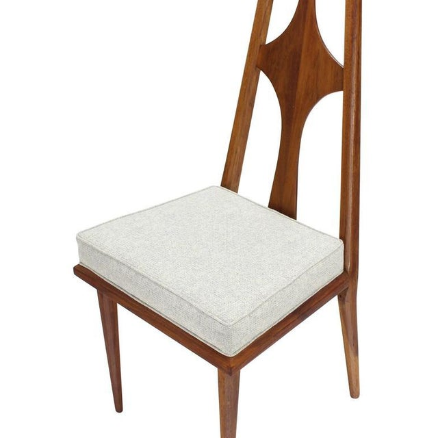 White Set of Six Swedish Dining Chairs New Upholstery For Sale - Image 8 of 10