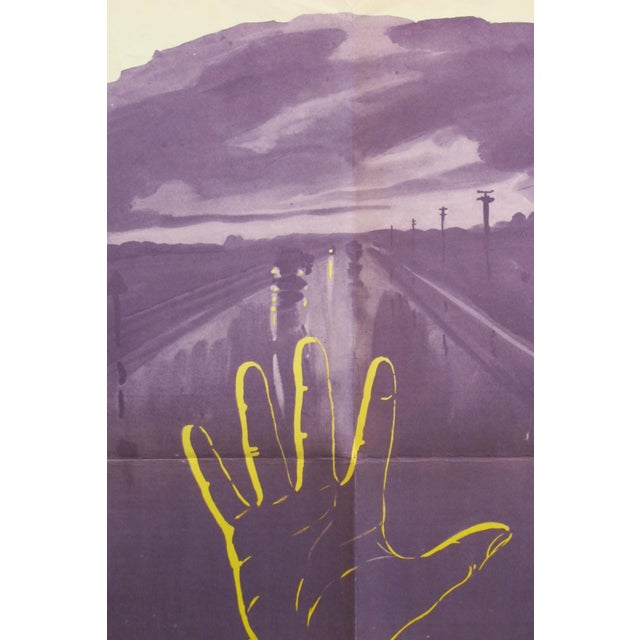 1960s 1962 Original Russian Driving Safety Poster, Bad Visibility For Sale - Image 5 of 7