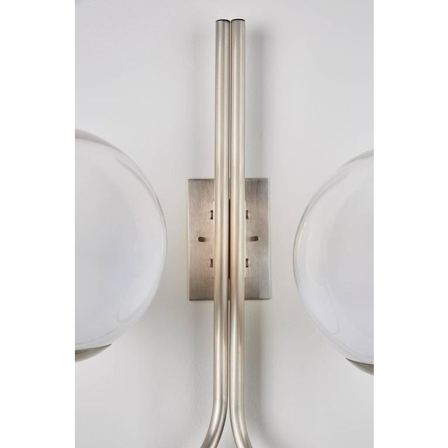 Four Opaline Glass Wall Lights - Image 9 of 9