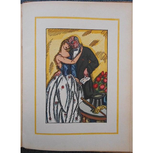 "Vintage Ltd. Ed. Hand Colored Image By Guy Arnoux""Les Femmes De Ce Temps""-L'Interessee- Self Interest-France-1920 - Image 2 of 8"