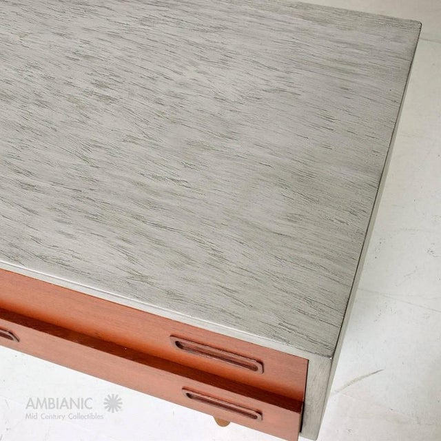Teak Danish Modern Cabinet with Hutch Teak For Sale - Image 7 of 8