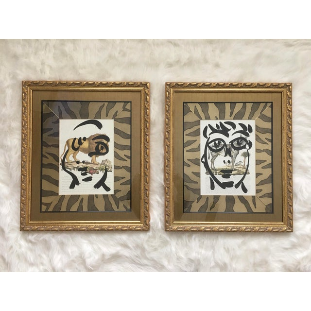 Peter Keil Abstract Framed Paintings on Paper - Set of 2 For Sale - Image 12 of 12