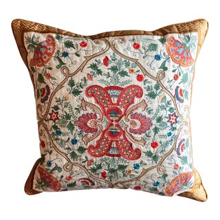 Silk Embroidered Pillow For Sale