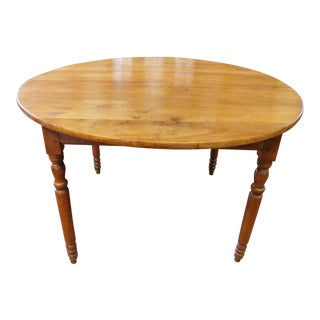 19th Century Country French Round Dining Table For Sale