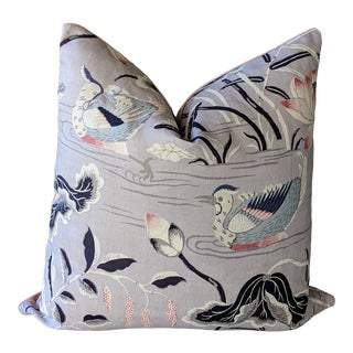 Lotus Garden by Schumacher Pillow Cover For Sale