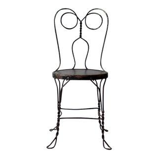 Vintage Black Ice Cream Parlor Chair
