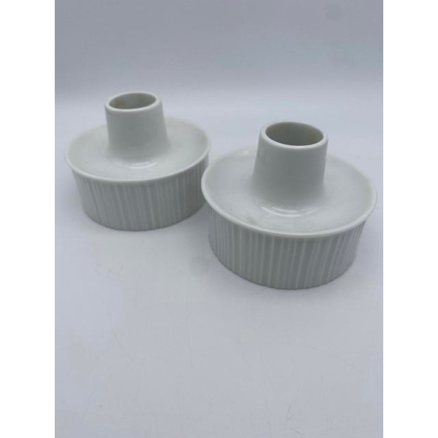 Ceramic Tapio Wirkkala for Rosenthal Porcelain Candle Holders For Sale - Image 7 of 7