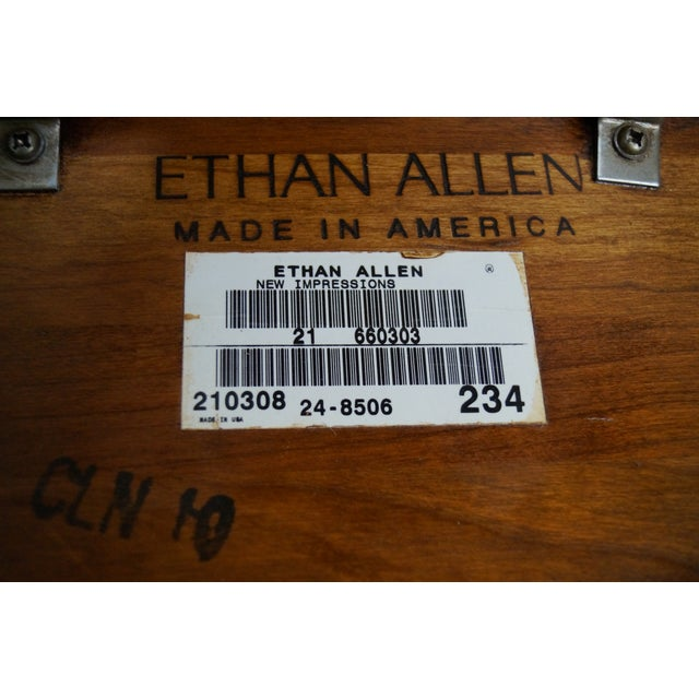 Ethan Allen New Impressions Solid Cherry Triangle Corner Table For Sale - Image 7 of 10