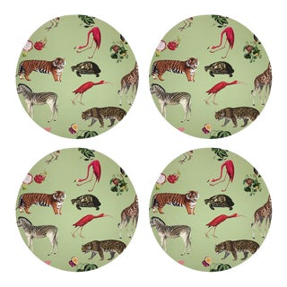 """Exotix Avacodo, 16"""" Round Pebble Placemats, Set of 4 For Sale"""