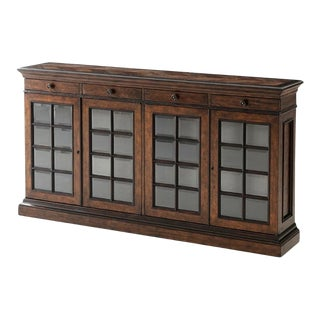 French Provincial Glass Door Cabinet For Sale