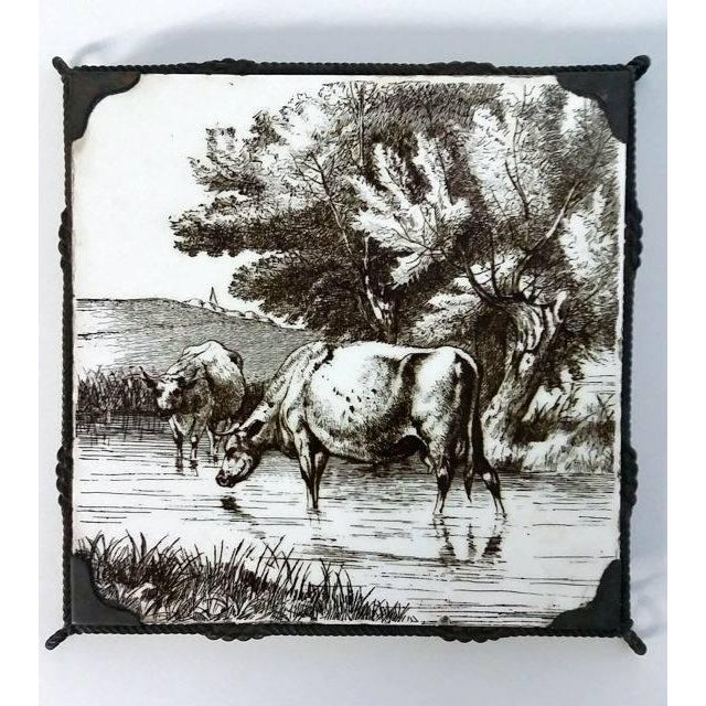 Minton 1891 Stoke Upon Trent Sepia Tile - Image 2 of 8