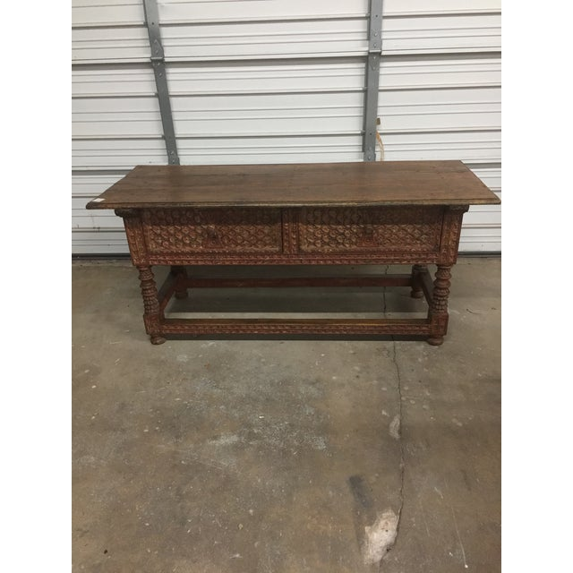 Peruvian Carved Console Table - Image 2 of 5