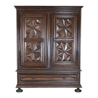 A Massive Louis XIII Period Carved Walnut Cabinet; French, Circa 1660. For Sale