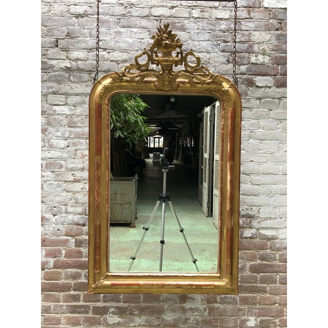19th Century French Gilded Mirror For Sale - Image 11 of 12