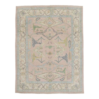 Contemporary Oushak Style Rug - 10'01 X 13'00 For Sale