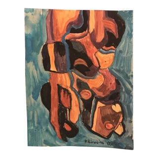 1946 Canadian Abstract Expressionist Mid-Century Modern Painting by Berard For Sale