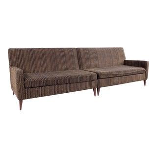 Mid Century Paul McCobb 2 Piece 4 Seater Sofa For Sale