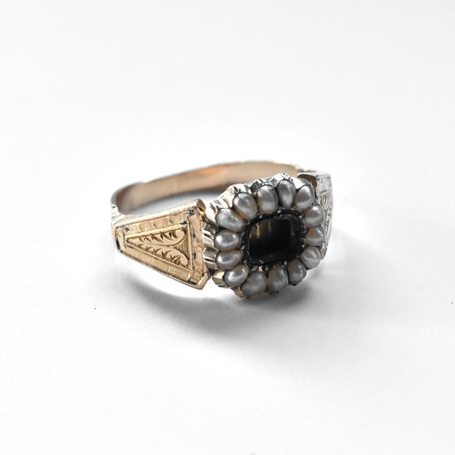 19th Century Lover's Eye Victorian Seed Pearl Ring For Sale In San Francisco - Image 6 of 7