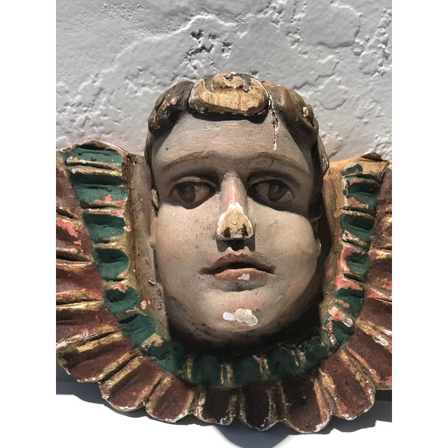 Beautiful Carnival Art -Sculptural Carousal Fragment, C. 1930. We purchased this wonderful carnival art piece as part of a...