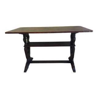 1900s American Classic Solid Oak Library Table