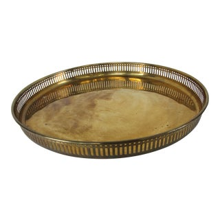 Large Round Vintage Brass Tray