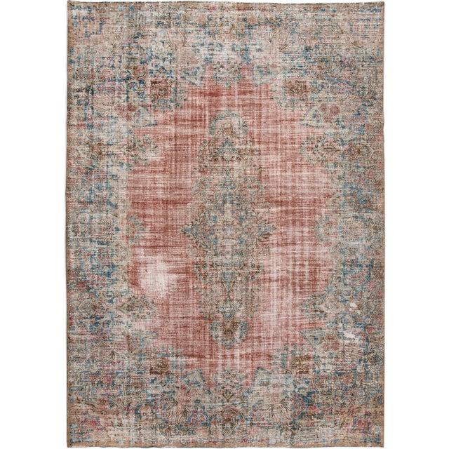 "Apadana-Antique Persian Distressed Rug, 9'5"" X 13'0"" For Sale - Image 9 of 9"