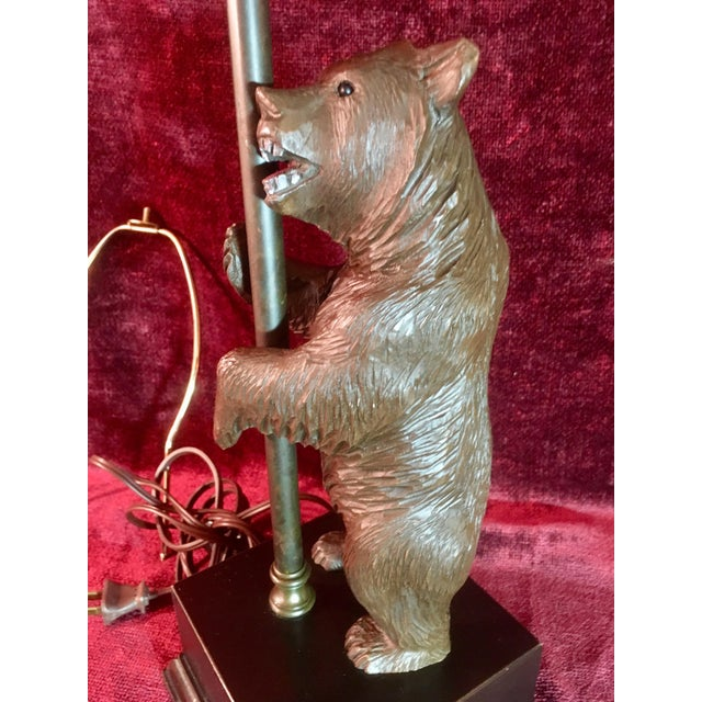 Black Forest Vintage Black Forest Bear Table Lamp For Sale - Image 4 of 13