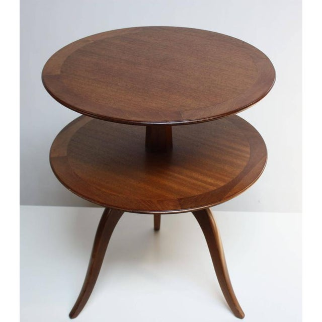 Edward Wormley for Dunbar, Two-Tier Mahogany Occasional Table - Image 2 of 10
