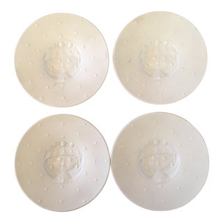 1960s Rosenthal Small White Plates - Set of 4 For Sale