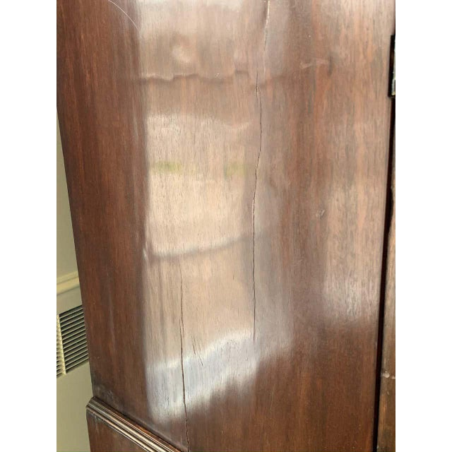 Wood American Bow Front Linen Press For Sale - Image 7 of 11