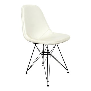 Mid Century Modern Eames Herman Miller Eiffel Tower Leather Dkr Side Chair 1960s For Sale