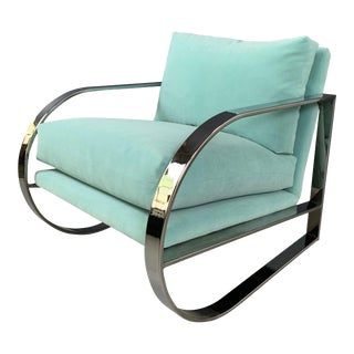 1960s Vintage John Mascheroni for Swaim Originals Chrome Lounge Chair For Sale