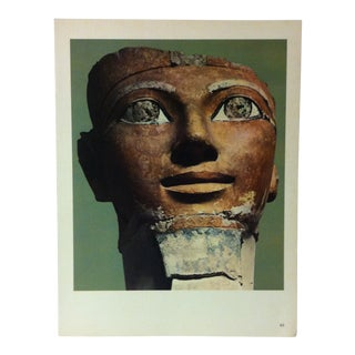 """Circa 1970 """"Pharaoh Thutmose I"""" Great Sculpture of Ancient Egypt Print For Sale"""