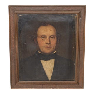 Fine 19th Century Oil Portrait of a Handsome Gentleman For Sale