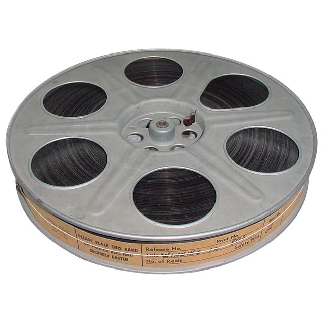 Circa Mid 20th Century 35mm Movie Reel With Sound Track. Motion Picture Film Display For Sale