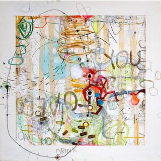 Janet Lage Trashed - a Drinking Song Graffiti Painting 2015 For Sale