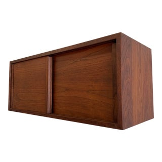 Mid Century Modern Walnut Floating Hanging Cabinet For Sale
