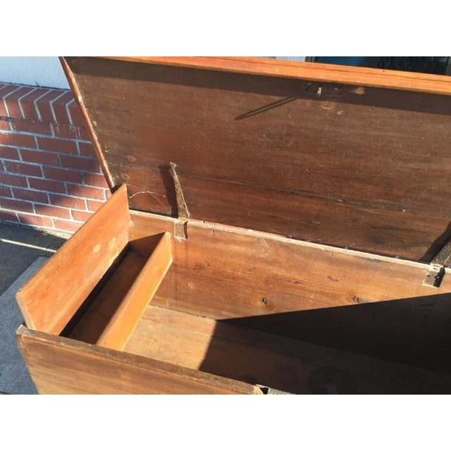 18th Century American Cherry Blanket Chest Trunk For Sale - Image 10 of 12
