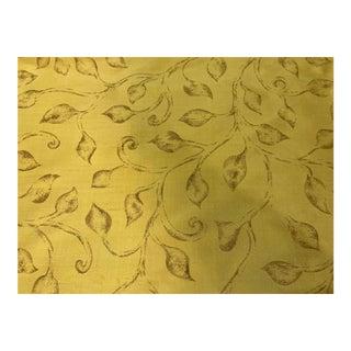 Travers Screen Print on Silk Taffeta Fabric For Sale