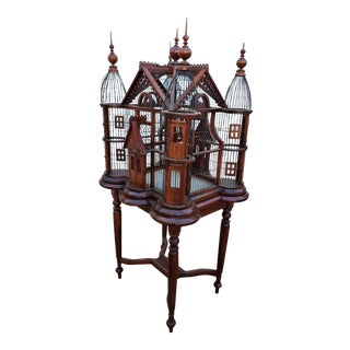 Antique Victorian Style Bird Cage For Sale