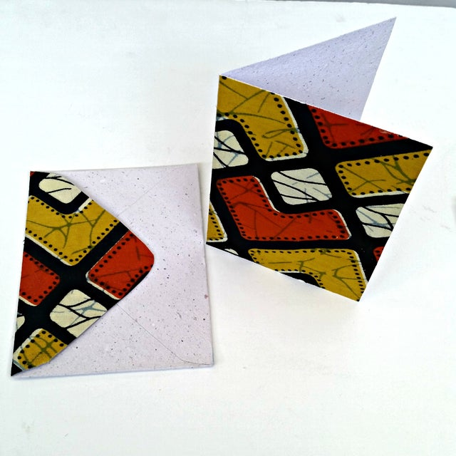 African Wax Fabric Greeting Cards - Set of 10 - Image 4 of 6
