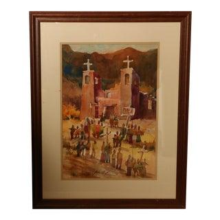 """Parada del Sol"" Original Southwestern Watercolor Painting For Sale"