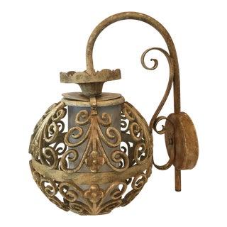 Feldman Mid-Century Metal Globe Sconce Light For Sale