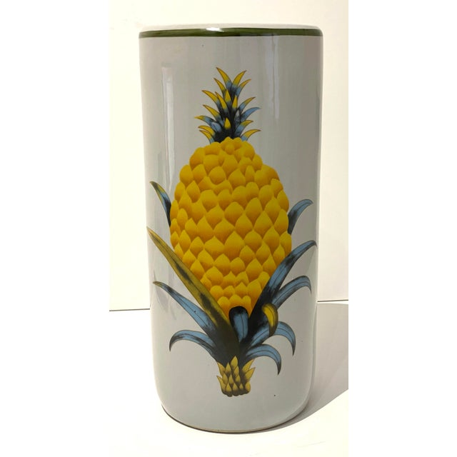 Fornasetti Vintage Fornasetti Style Umbrella Stand With Double Pineapple Motif For Sale - Image 4 of 12