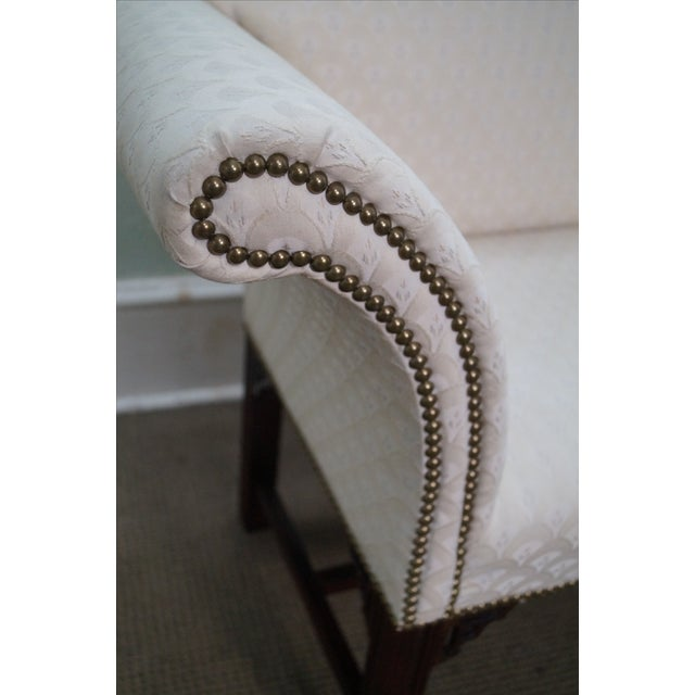Chippendale-Style Settee Bench For Sale - Image 7 of 8