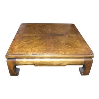 1970s Asian Modern Thomasville Coffee Table For Sale