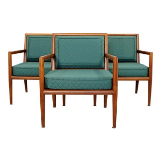 Mid-Century Modern Pair of Robsjohn-Gibbings for Baker Lounge Armchairs, 1950s
