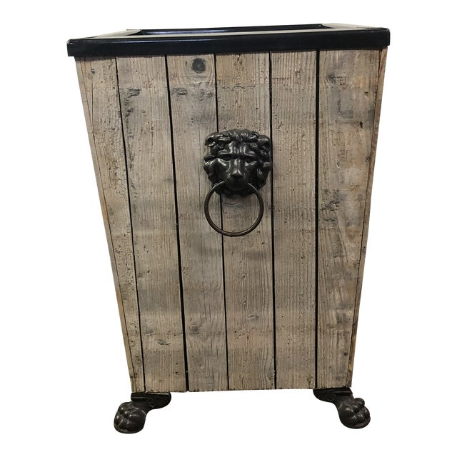 Rustic Vintage Planter/Side Table For Sale
