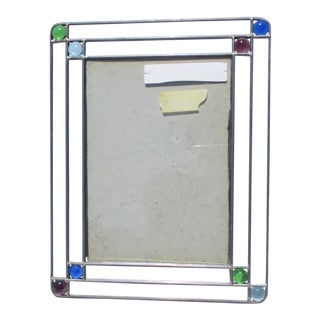 Vintage Leaded Glass Arts and Crafts Style Photo Frame For Sale
